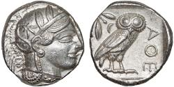 Ancient Coins - Attica. Athens: AR tetradrachm – Athena/Owl