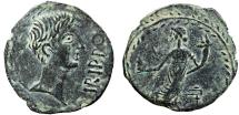 Ancient Coins - Spain. Irippo: AE semis – Augustus(?)/Tyche