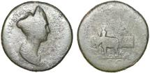 Ancient Coins - Marciana AE sestertius – Diva Marciana – Marciana in elephant biga – Rare