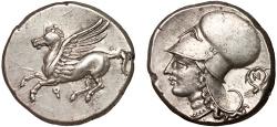 Ancient Coins - Corinthia. Corinth AR stater – Pegasus/Athena
