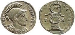 Ancient Coins - Constantine I AE follis – Wreath on garlanded cippus – Celbration of peace – Very rare