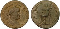Ancient Coins - Valerian I AE31, Adana, Cilicia – Zeus
