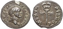 Ancient Coins - Vespasian AR denarius – Caduceus