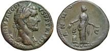 Ancient Coins - Antoninus Pius AE sestertius – Annona