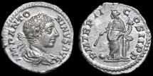 Ancient Coins - Elagabalus AR Denarius - Providentia - EF