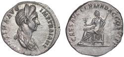 Ancient Coins - Plotina AR denarius – Vesta