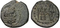 Ancient Coins - Kings of Galatia: Deiotaros AE17 – Zeus/Monogram and shield – Rare