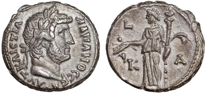 Ancient Coins - Hadrian billon tetradrachm, Alexandria, Egypt – Demeter