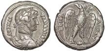 Ancient Coins - Hadrian billon tetradrachm, Alexandria, Egypt – Eagle – Fine style