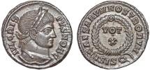 Ancient Coins - Crispus Caesar AE follis – Votive in wreath – EF