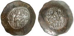 Ancient Coins - Manuel I Comnenus billon trachy – Christ/Virgin crowning emperor