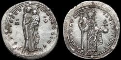 Ancient Coins - Romanus III Argyrus AR miliaresion – Virgin/Emperor – EF; rare
