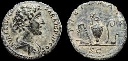 Ancient Coins - Marcus Aurelius as Caesar AE As – Priestly implements