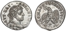 Ancient Coins - Caracalla AR tetradrachm. Laodicea ad Mare. Syria – Eagle – Good metal and broad flan for type