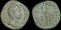 Ancient Coins - Julia Mamaea AE sestertius – Felicitas