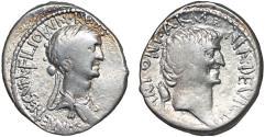 Ancient Coins - Cleopatra and Marc Antony AR denarius