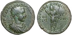 Ancient Coins - Elagabalus. Nicopolis ad Istrum. Moesia Inferior AE26 – Serapis