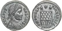Ancient Coins - Crispus. Caesar AE follis – Campgate – EF