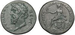 Ancient Coins - Lydia. Maeonia AE25 pseudo-autonomous coinage – Zeus/Roma