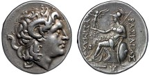 Ancient Coins - Thracian Kingdom: Lysimachos (Lysimachus) AR tetradrachm - Head of Alexander the Great/Athena - Pleasant toning