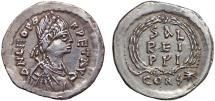 Ancient Coins - Leo I AR siliqua – Legend in Wreath – A wonderful example of this rare type