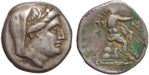 Ancient Coins - Thrace. Byzantion AR 9 obols – Demeter/Poseidon – Very rare