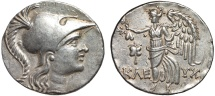 Ancient Coins - Pamphylia. Side AR tetradrachm – Athena/Nike – Superior style