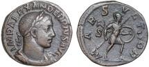 Ancient Coins - Severus Alexander AE sestertius – Mars