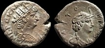 Ancient Coins - Nero billon tetradrachm, Alexandria, Egypt – Personification of Alexandria in elephant headdress