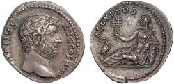 Ancient Coins - Hadrian AR denarius – Egypt – Travel series