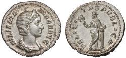 Ancient Coins - Julia Mamaea AR denarius – Felicitas – EF; fine style; well-centered on a broad flan