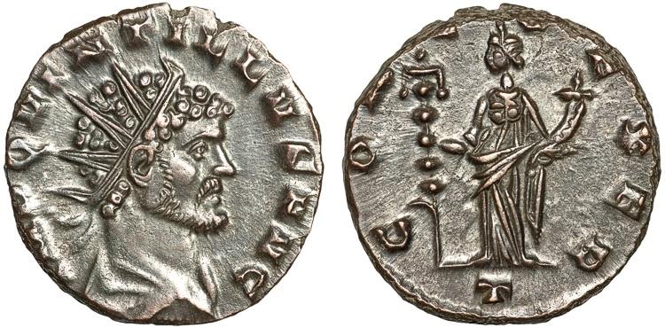 Ancient Coins - Quintillus AE antoninianus – Concordia