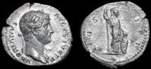 Ancient Coins - Hadrian AR denarius - Minerva - Nice portrait