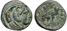 Ancient Coins - Macedonian Kingdom: Alexander III AE17 (half unit) – Herakles/Eagle