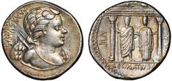 Ancient Coins - Cn. Egnatius Cn.f. Cn.n. Maxsumus AR denarius – Cupid/Jupiter and Libertas – Attractive toning