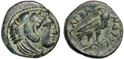 Ancient Coins - Macedonian Kingdom: Alexander III AE17 (half unit) – Herakles/Eagle