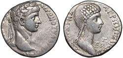 Ancient Coins - Nero with Agrippina Junior AR tetradrachm. Antioch. Seleukis and Pieria. Syria – Good metal for type