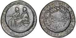 Ancient Coins - Germanicus with Drusus Caesar AE diassarion. Sardis Lydia – Overstruck around circumference on both sides with ring shaped punches