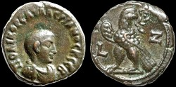 Ancient Coins - Saloninus, Caesar billon tetradrachm, Alexandria, Egypt – Eagle – Rare