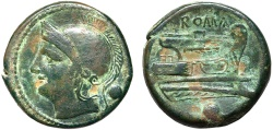 Ancient Coins - Anonymous AE uncia – Roma/Prow