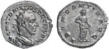 Ancient Coins - Trajan Decius AR antoninianus - Abundantia