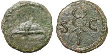 Ancient Coins - Anonymous AE quadrans – Winged petasos/Caduceus