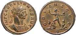 Ancient Coins - Aurelian AE antoninianus – Sol and captives – EF