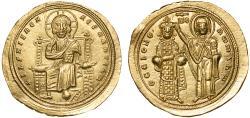 Ancient Coins - Romanus III Argyrus AV histamenon nomisma – Christ/Virgin crowning emperor – EF