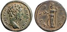 Ancient Coins - Commodus AE21, Nicaea, Bithynia – Athena