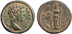 Ancient Coins - Commodus AE21, Nicaea, Bithynia – Athena