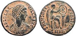 Ancient Coins - Aelia Flaccilla AE centenionalis – Victory inscribing shield