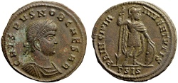 Ancient Coins - Crispus Caesar AE follis – Prince of youth