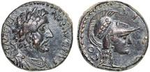 Ancient Coins - Antoninus Pius AE19; Iconium. Lycaonia – Athena
