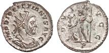Ancient Coins - Diocletian billon antoninianus – Jupiter – EF; silvered